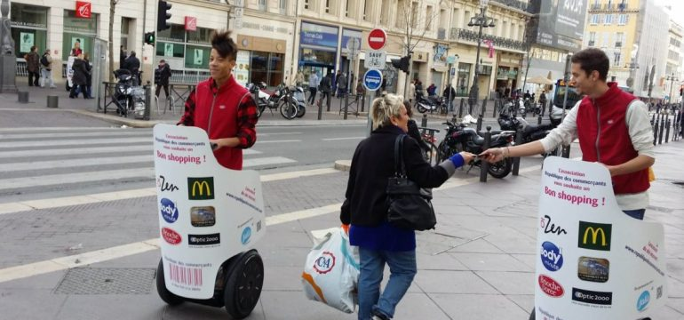 Le Street Marketing, un job très convoité par les étudiants.